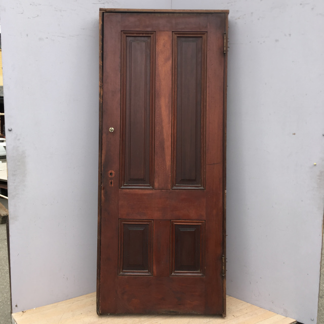 Victorian Redwood Door W Frame