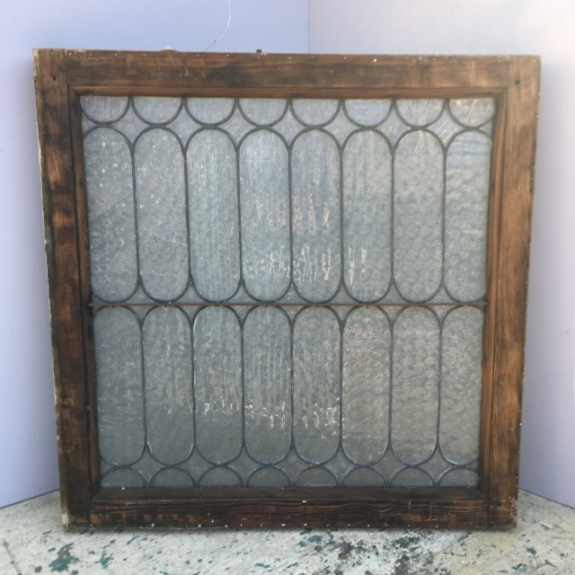 Leaded Florentine Glass Window As Is