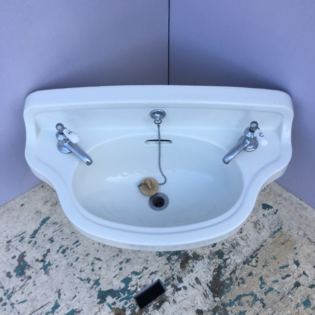 Trenton Pottery Works Wall Mount Sink With Crane Faucet