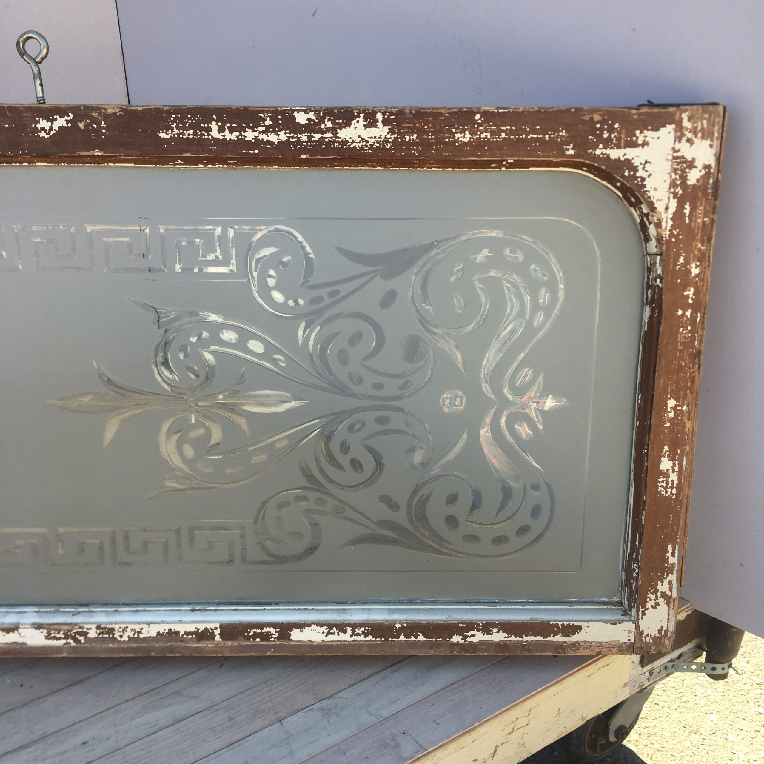 Etched Glass Window Panel
