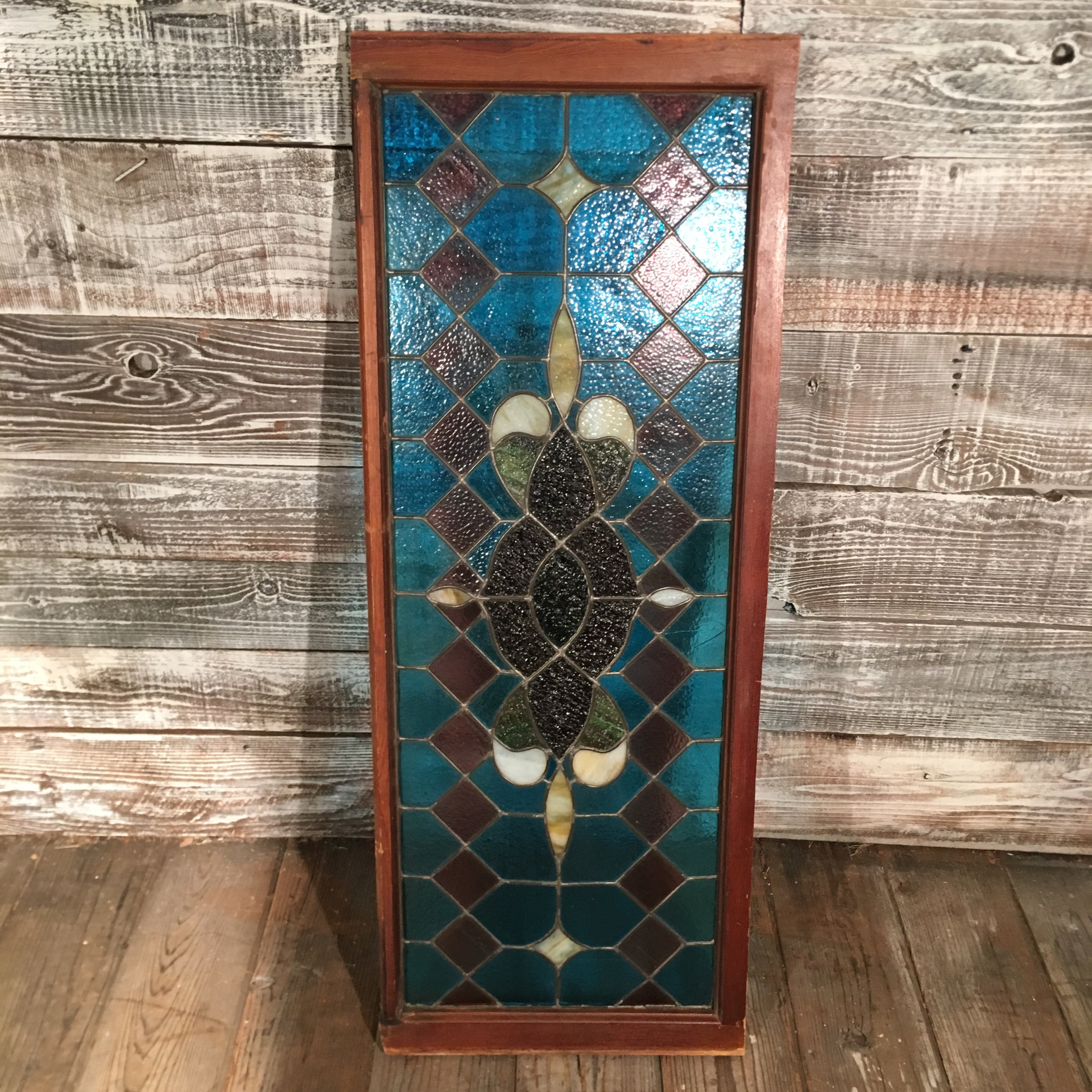 Victorian Stained Glass Panel Blue Amp Purple