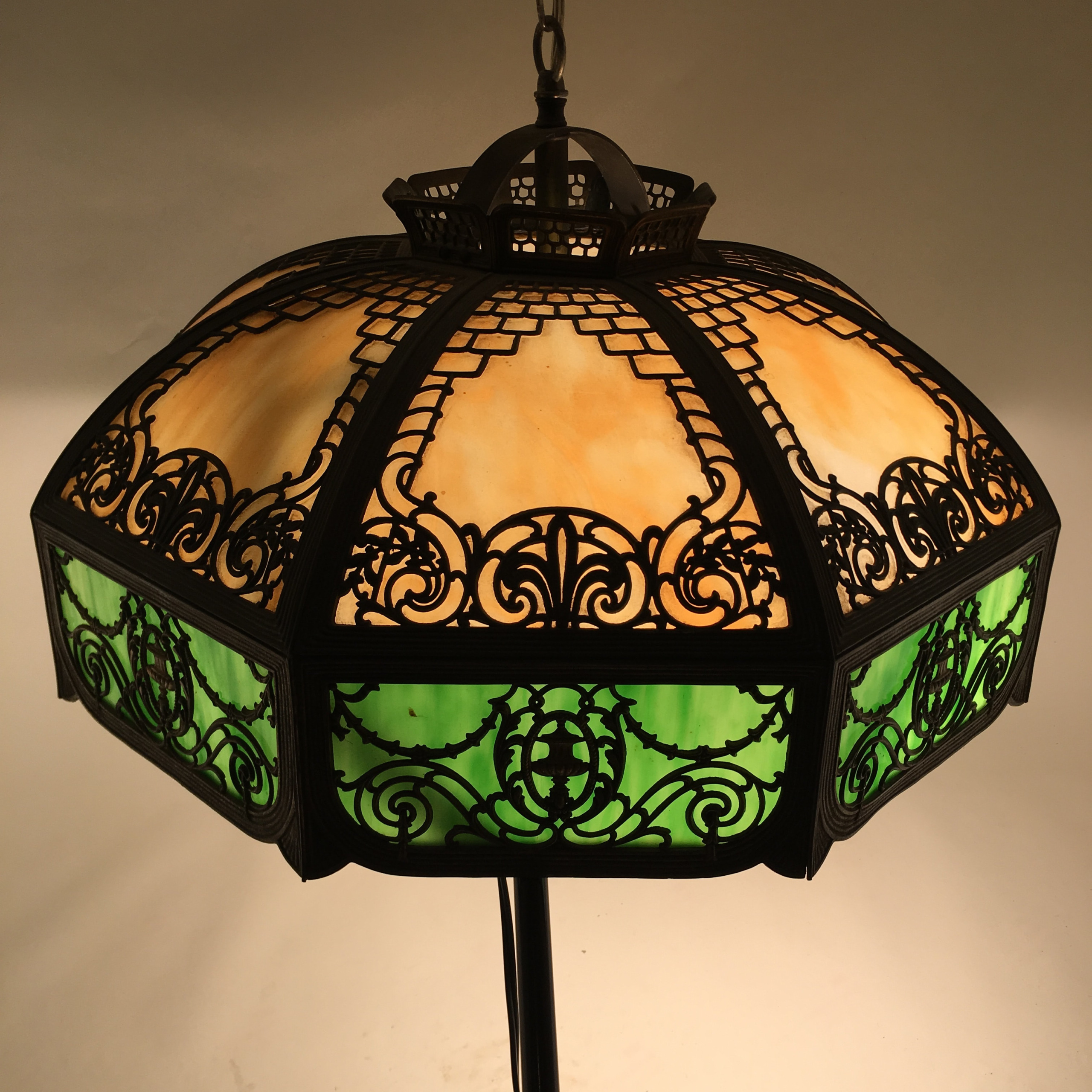 Leaded Glass Pendant Light