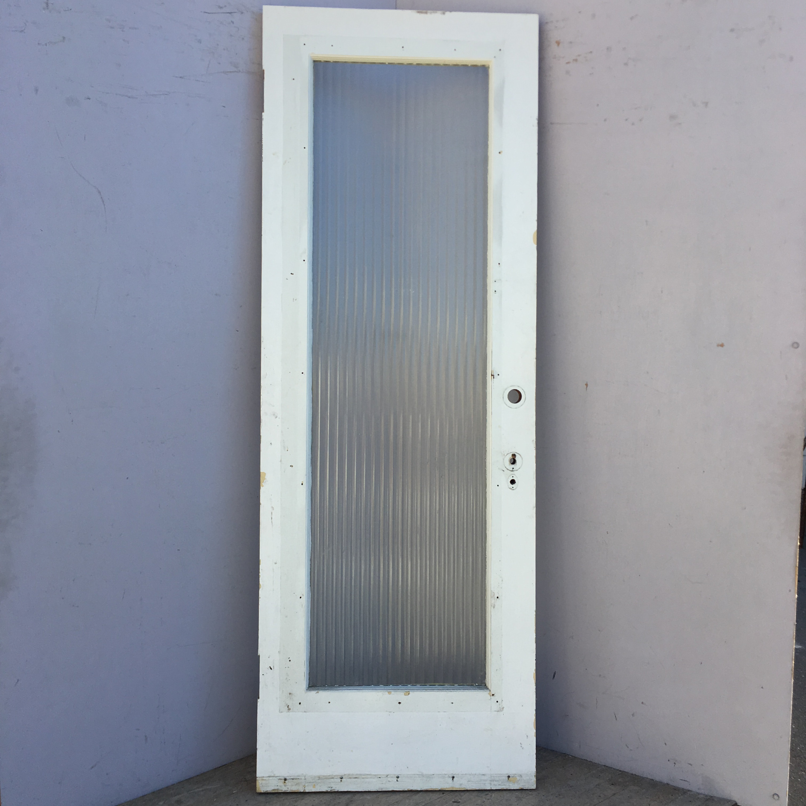 Fluted Glass French Door