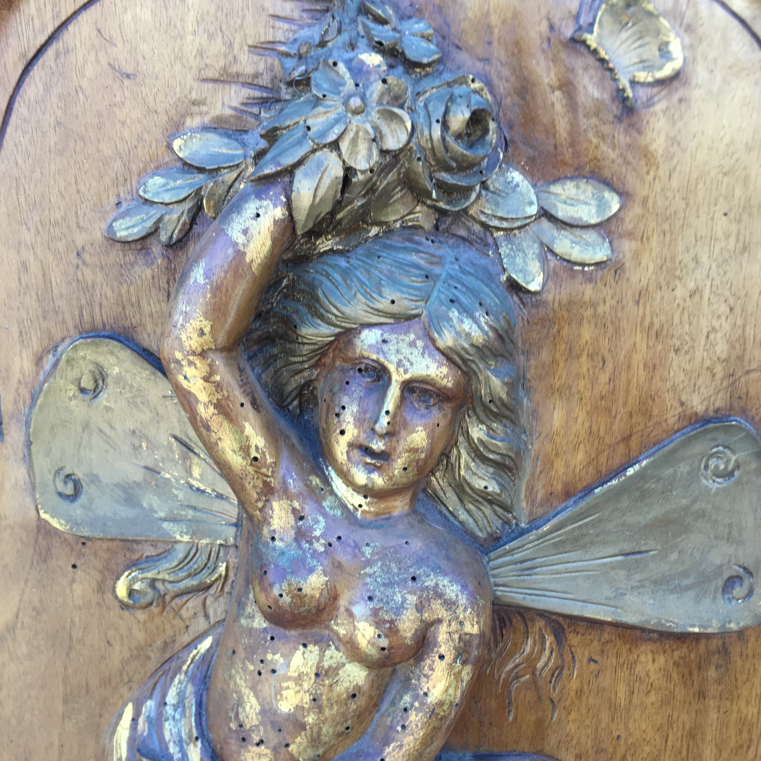 Carved Fairy Cabinet Door Sold