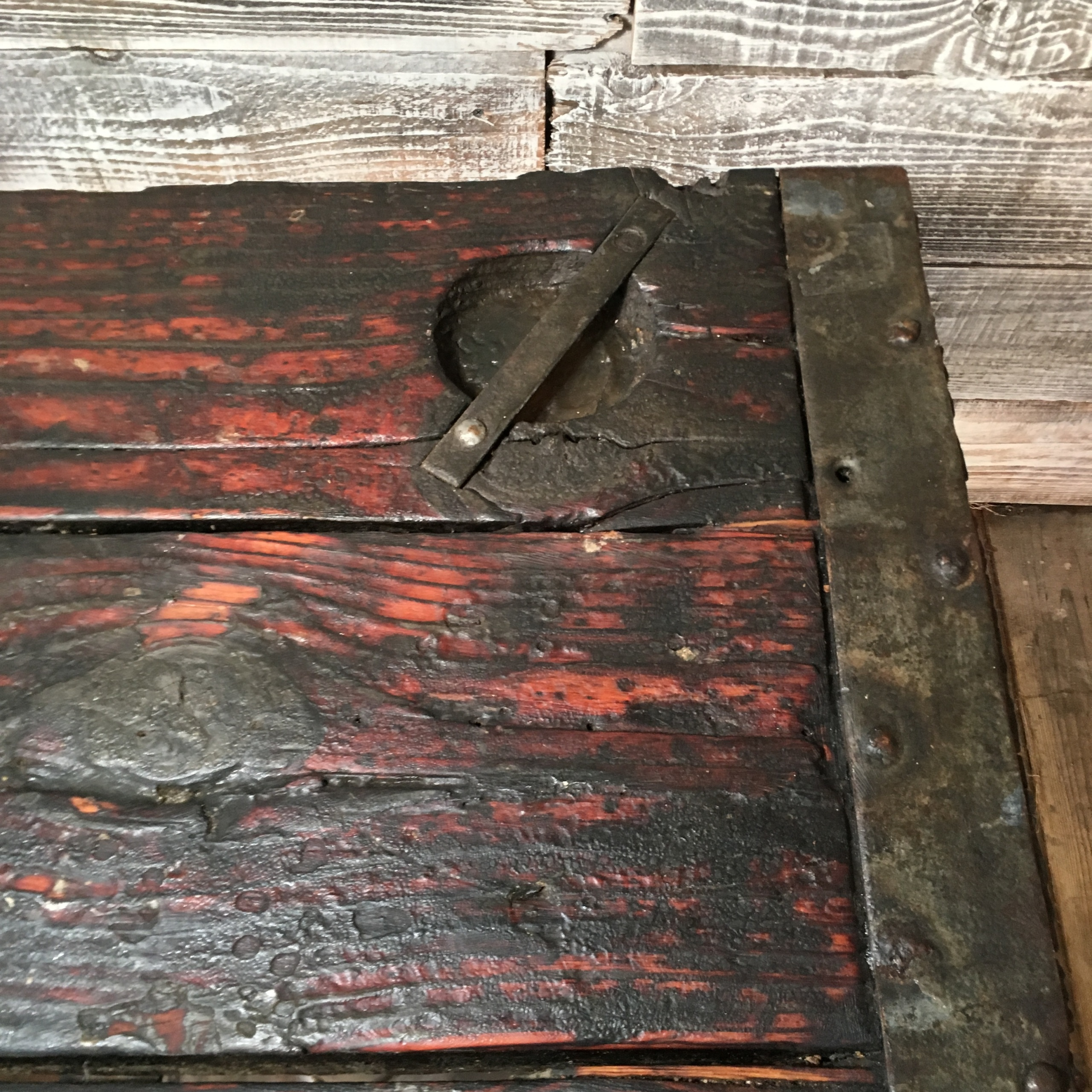 Antique Wooden Ship Hatch Table
