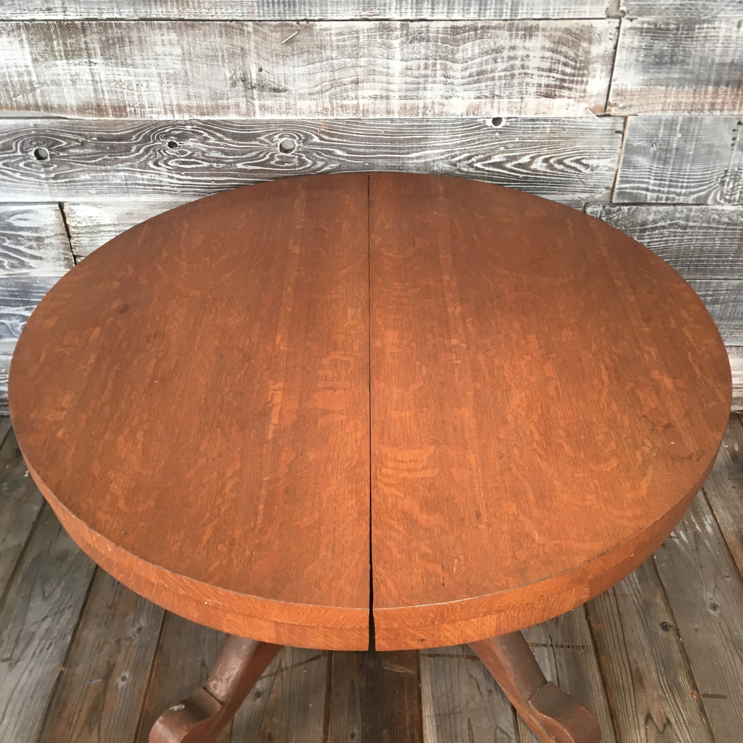 American Victorian Quarter Sawn Oak Dining Table Sold