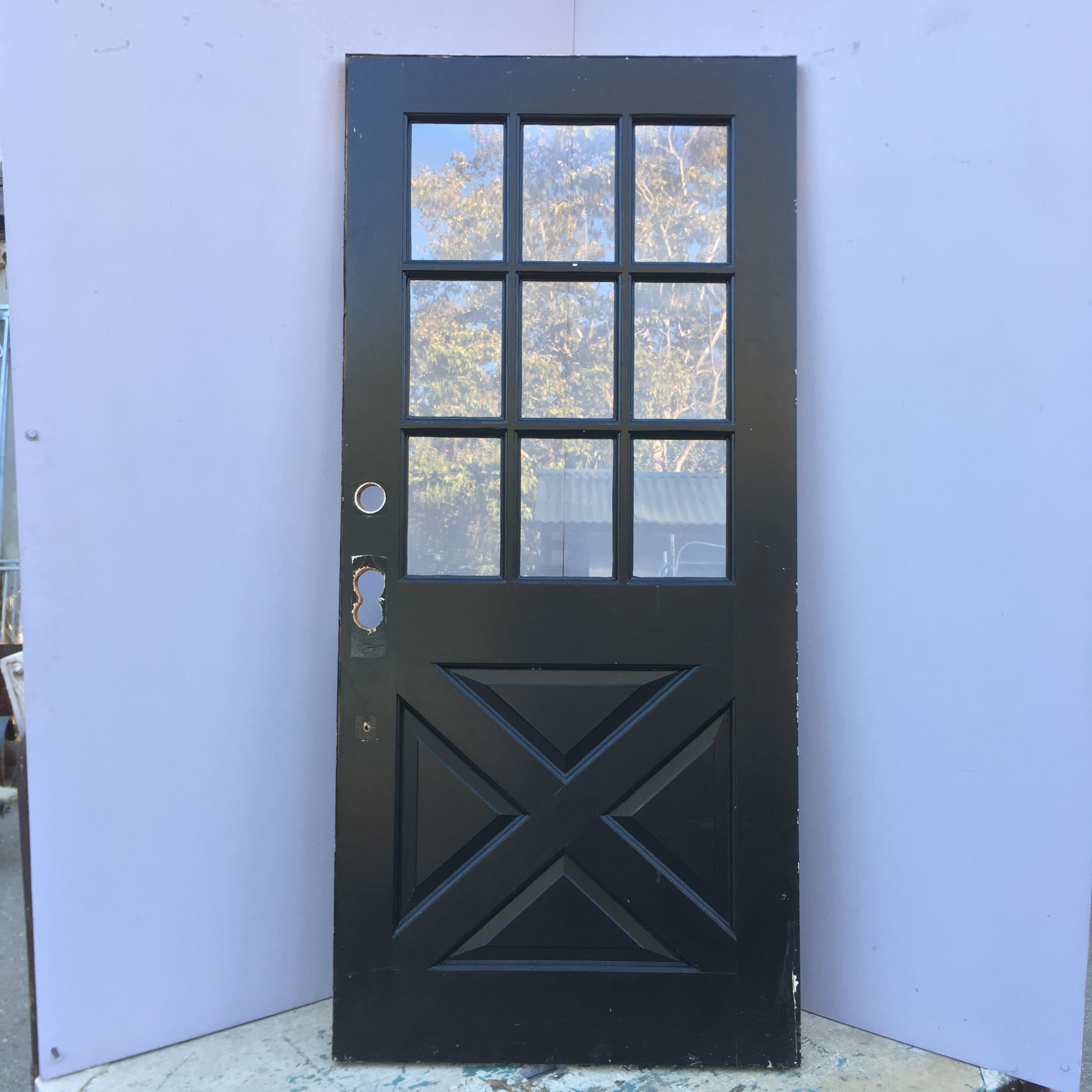 9 lite cross buck entry door for 9 light exterior door