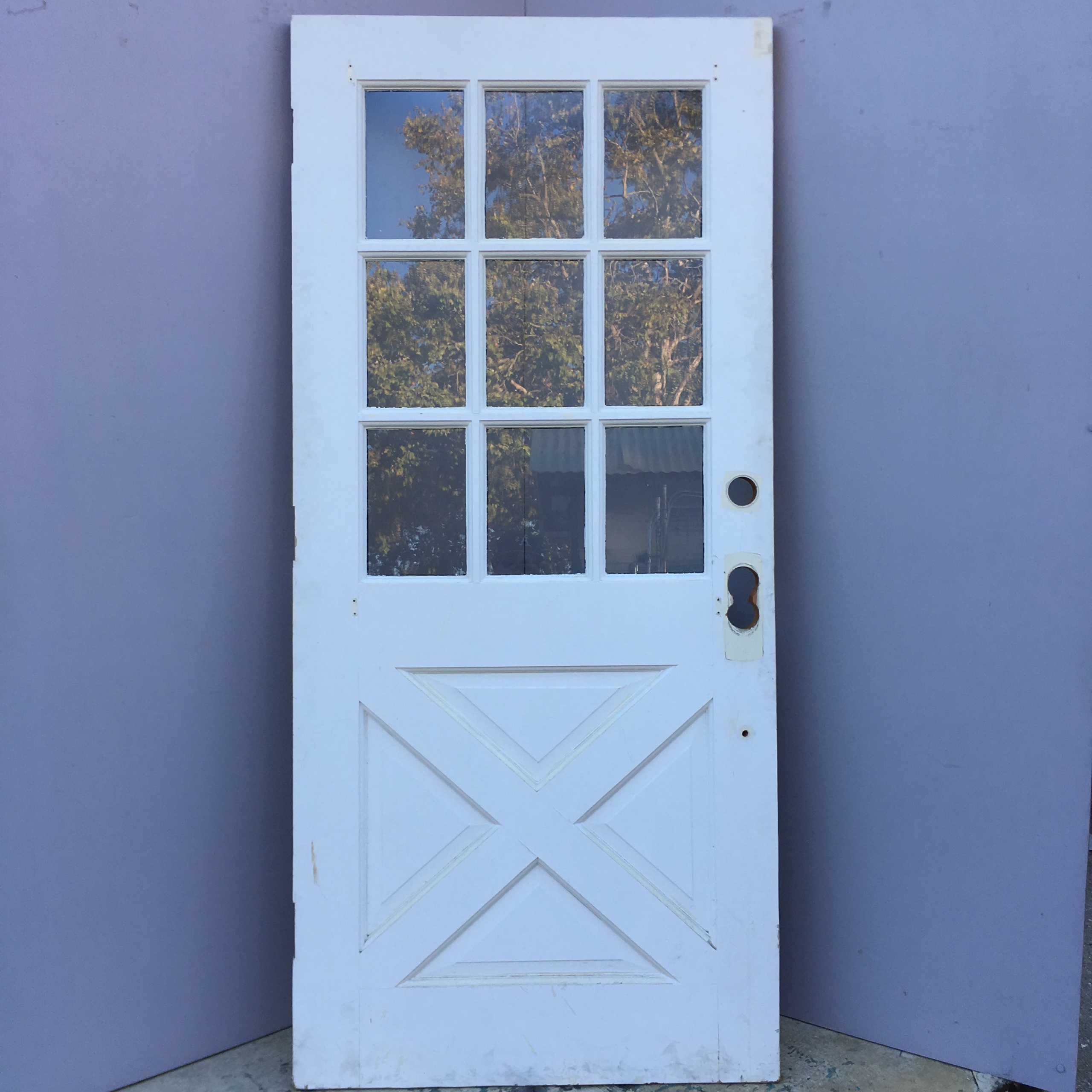 9 lite cross buck entry door for Entrance doors
