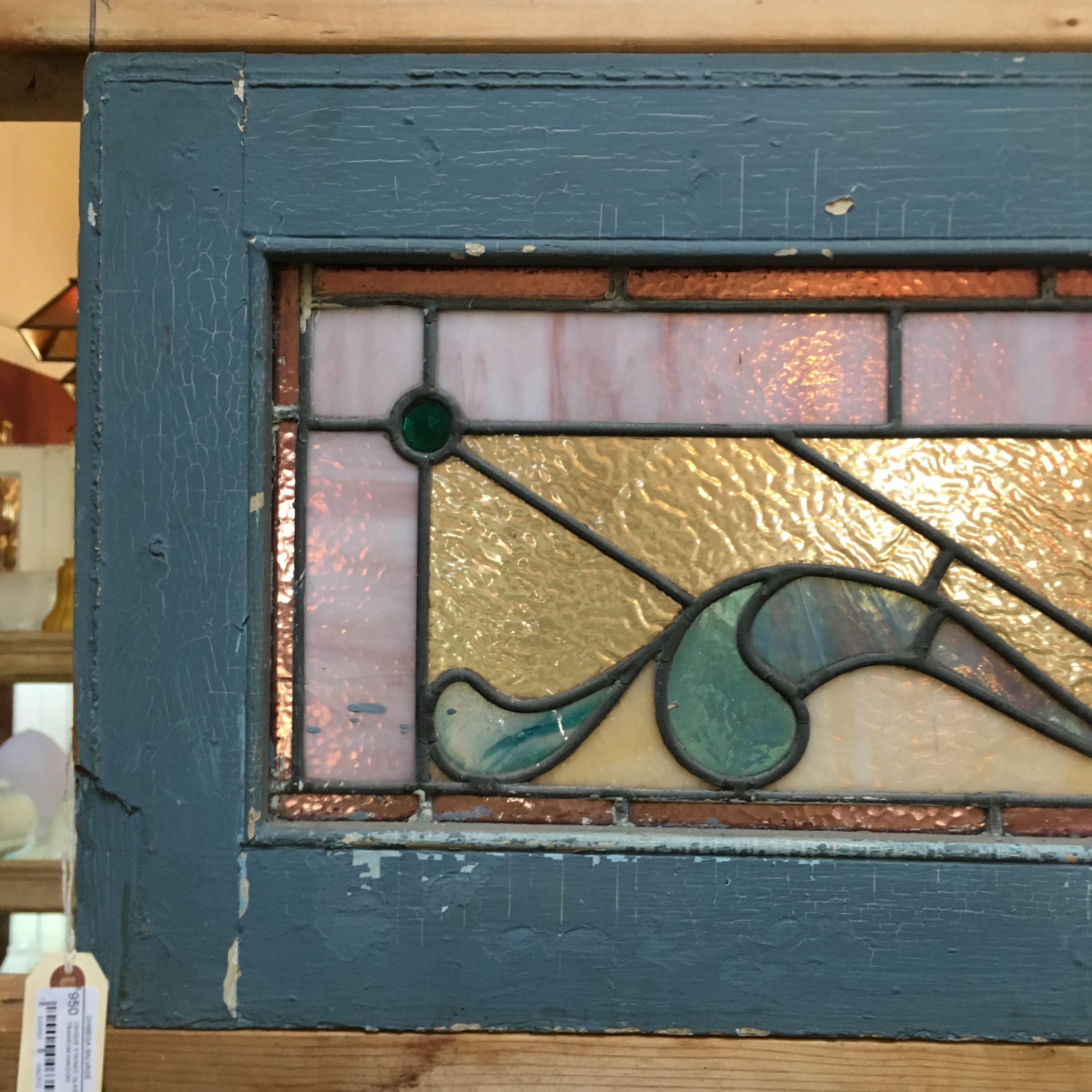 Unique Stained Glass Transom Window